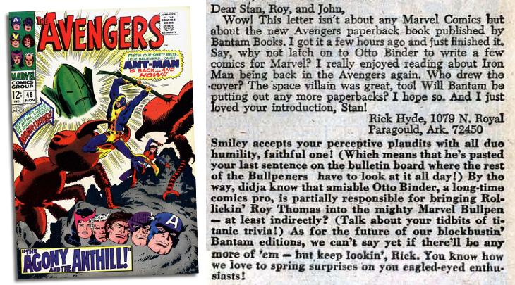 avengers 46 letter