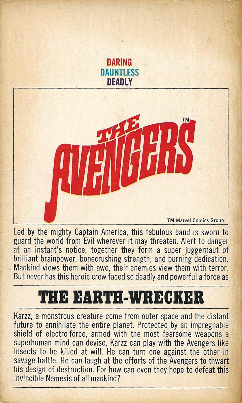 avengers novel back