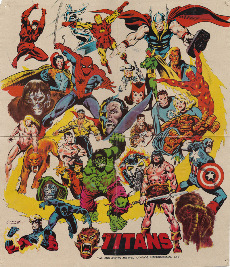The Titans #1 free poster orig