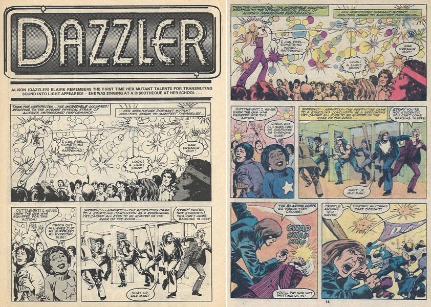 dazzler page comparison