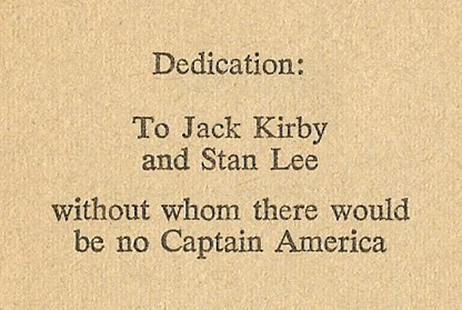 captain america great gold steal dedication