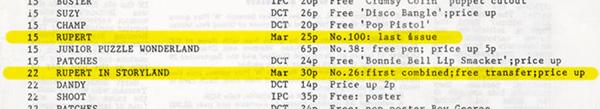 comic calendar oct 1984 clip