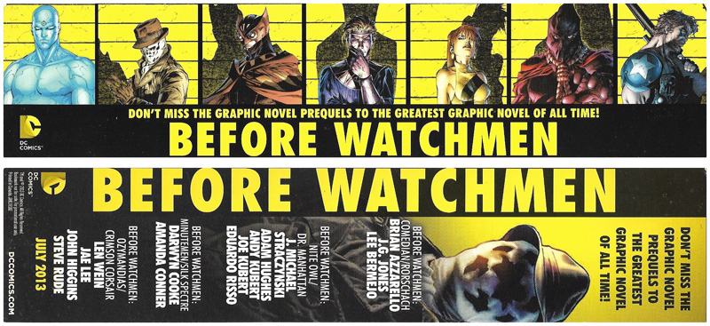 Before Watchmen bookmarks