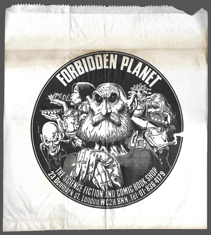 Forbidden Planet bag 19820525