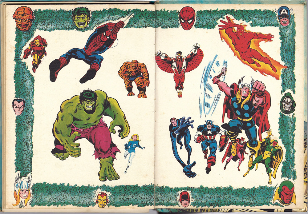 captain britain annual end papers