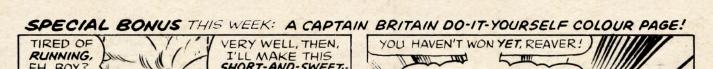 Captain Britain diy colour page